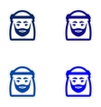 Set of paper stickers on white background Arab men vector image vector image