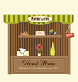 Shop of artifacts vector image