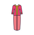 singapore traditional costume icon cartoon style vector image vector image