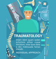 traumatology clinic traumatologist doctor vector image vector image