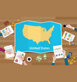 usa united states of america economy country vector image vector image