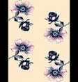 Wallpaper seamless floral vintage background vector image vector image