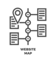 Website Map Line Icon
