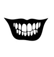 wide frightening human smile with teeth vector image vector image