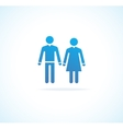 Woman and man icons vector image vector image
