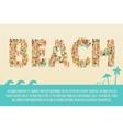 Summer Beach Concept vector image
