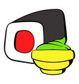 sushi roll icon cartoon vector image