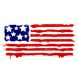 Abstract grunge flag of USA vector image