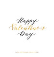 happy valentines day gold text isolated vector image