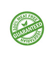 100 meat free stamp vegetarian food icon vector image vector image