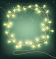abstract christmas garlands with bulbs eps 10 vector image vector image