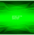 abstract green geometric polygonal background vector image