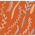 abstract seamless pattern with leaves and vector image vector image
