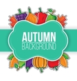 Autumn background with vegetables and fruits vector image vector image