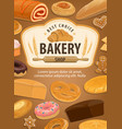 bakery house pastry food made of dough vector image vector image