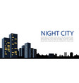 banner big city night city on white background vector image vector image
