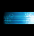 bright blue abstract technology web banner design vector image vector image