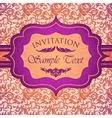 Bright vintage invitation card vector image vector image