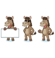 Brown Donkey Mascot happy vector image vector image