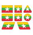 buttons with flag of Burma vector image vector image