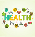 cartoon health concept card poster vector image