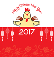 Chinese New Year Card With The Rooster vector image vector image