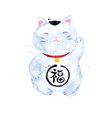 Chinese symbols lucky cat vector image vector image