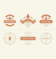 christmas typography ornate labels and vector image vector image