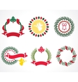 christmas wreaths vector image vector image