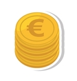 coin euro isolated icon vector image