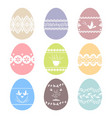 collection of decorated easter eggs images vector image