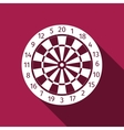 Dart Board with Twenty Black and White Sectors vector image