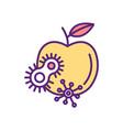 dirty food rgb color icon vector image