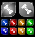 domino icon sign Set of ten colorful buttons with vector image