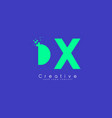 dx letter logo design with negative space concept vector image vector image