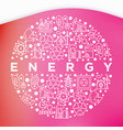 energy concept in circle with thin line icons vector image vector image