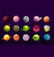 fantastic planets satellites alien worlds icons