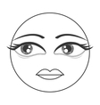femenine face emoticon icon vector image vector image
