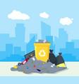 garbage dump or landfill vector image vector image