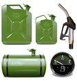 gasoline canister icons vector image