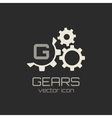 Gear icon with place for your text vector image