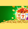 golden slot machine wins the jackpot big win vector image vector image