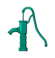 green water pump design isolated on white vector image vector image