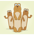 Ground squirrel vector image vector image