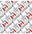 hand drawn seamless pattern with canada culture vector image vector image