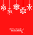 hang snow red vector image vector image