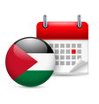 Icon of National Day in Palestine vector image vector image