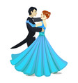isolated waltz dancers in cartoon style vector image