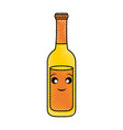 kawaii beer bottle vector image