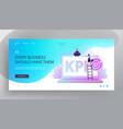 key performance indicator kpi website landing vector image vector image